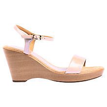 Buy Unisa Rita Patent Wedges, Pink Online at johnlewis.com