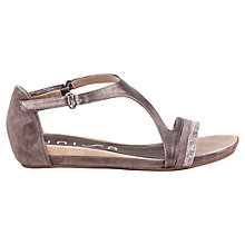 Buy Unisa Alber Buckle Strap Suede Sandals, Natural Online at johnlewis.com