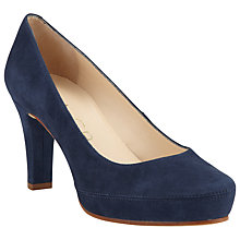 Buy Unisa Numar Platform Court Heels, Navy Suede Online at johnlewis.com