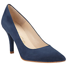 Buy Unisa Tadi KS Suede Court Shoes, Navy Online at johnlewis.com