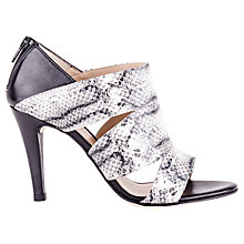 Buy Unisa Yago Snake Embossed Leather Court Shoes, Grey Online at johnlewis.com