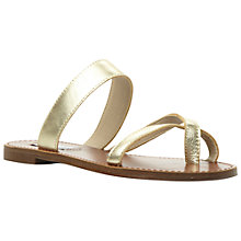 Buy Steve Madden Aintso Leather Sandals, Gold Online at johnlewis.com