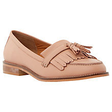 Buy Dune Goosie Fringe Tassel Leather Loafers, Blush Online at johnlewis.com