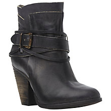 Buy Steve Madden Nadal Leather Ankle Boots, Black Online at johnlewis.com