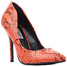 Buy Steve Madden Galery-S Toe Pointed Stiletto Court Heels, Coral Online at johnlewis.com