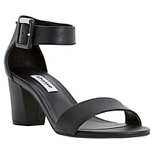 Buy Dune Joye Block Heeled Leather Sandals Online at johnlewis.com