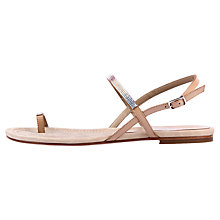 Buy Unisa Cruise Toe Ring Leather Sandals, Natural Online at johnlewis.com