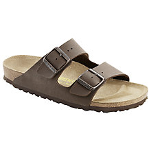 Buy Birkenstock Arizona Double Strap Slider Sandals, Brown Online at johnlewis.com
