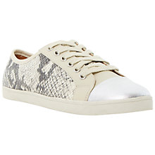 Buy Dune Ennis Snake Lace Up Trainers, Grey Online at johnlewis.com