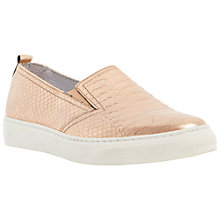 Buy Dune Lyanda Pointed Toe Slip On Leather Trainers, Rose Gold Online at johnlewis.com