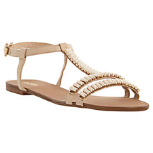 Buy Dune Nimbo Baguette Stone Embellished Leather Sandals, Nude Online at johnlewis.com