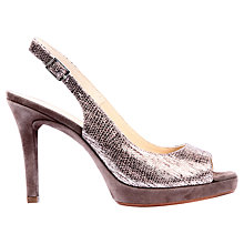 Buy Unisa Tadeo Snake Embossed Leather Sandals, Natural Online at johnlewis.com