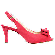 Buy Unisa Letis Peep Toe Slingback Heels Online at johnlewis.com