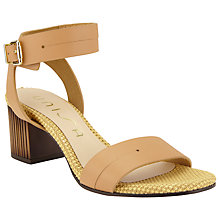 Buy Unisa Osva Leather Ankle Strap Sandals, Natural Online at johnlewis.com