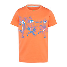 Buy John Lewis Boy Happy Graphic T-Shirt, Coral Online at johnlewis.com