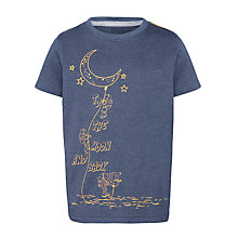 Buy John Lewis Boy Moon T-Shirt, Blue Online at johnlewis.com