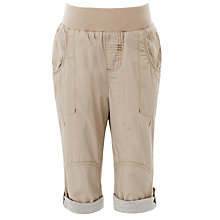 Buy John Lewis Boy Roll Up 3/4 Length Trousers, Taupe Online at johnlewis.com