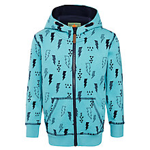 Buy John Lewis Boy Printed Graphic Hoodie, Blue Online at johnlewis.com