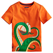 Buy Little Joule Boys' Archie Octopus T-Shirt, Orange Online at johnlewis.com