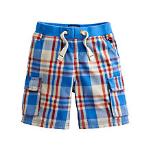 Buy Little Joule Boys' Check Shorts, Blue/Multi Online at johnlewis.com