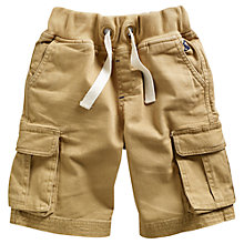Buy Little Joule Boys' Bob Cargo Shorts, Sand Online at johnlewis.com
