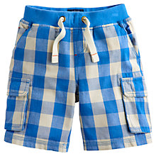 Buy Little Joule Boys' Bob Cargo Shorts, Blue/White Online at johnlewis.com