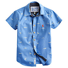 Buy Little Joule Boys' Luke Short Sleeve Shirt, Blue Online at johnlewis.com