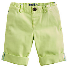 Buy Little Joule Boys' Ross Shorts, Lemon Online at johnlewis.com