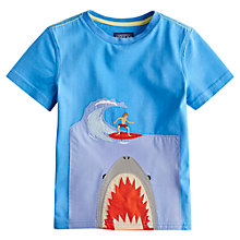 Buy Little Joule Boys' Archie Shark T-Shirt, Blue Online at johnlewis.com
