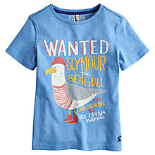 Buy Little Joule Children's Seymour T-Shirt, Blue Online at johnlewis.com