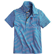 Buy Little Joule Boys' Tom Thin Stripe Polo Shirt, Whitby Blue Stripe Online at johnlewis.com