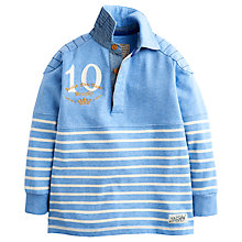Buy Little Joule Boys' Stripe Rugby Top, Blue Online at johnlewis.com