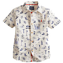 Buy Little Joule Boys' Bryce Shirt, White/Blue Online at johnlewis.com