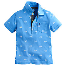 Buy Little Joule Boys' Tom Bike Print Polo Shirt, Blue Online at johnlewis.com