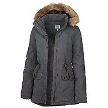 Buy Fat Face Quilted Short Parka, Gunmetal Online at johnlewis.com