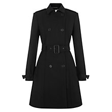 Buy Hobbs Erin Coat, Black Online at johnlewis.com