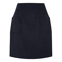 Buy Hobbs Dot Skirt, Navy / Ivory Online at johnlewis.com