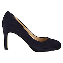 Buy Hobbs Juliet Suede Court Shoes, Navy Online at johnlewis.com