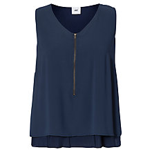 Buy Mamalicious Sarah Lia Sleeveless Maternity Top, Navy Online at johnlewis.com