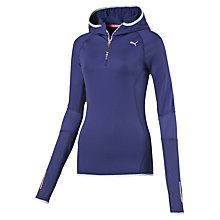 Buy Puma Half Zip Training Hoodie, Navy Online at johnlewis.com