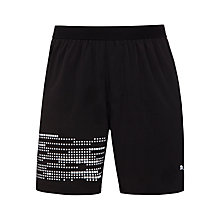 Buy Puma Nightcat Illuminate Running Shorts, Black Online at johnlewis.com