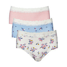 Buy John Lewis Girl Floral Lace Hipster Briefs, Pack of 3, Multi Online at johnlewis.com