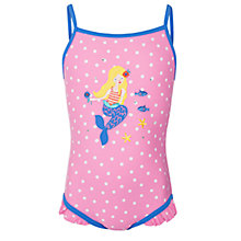 Buy John Lewis Girl Mermaid Motif Swimsuit, Pink Online at johnlewis.com