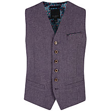 Buy Ted Baker Nubwai Wool Blend Waistcoat, Purple Online at johnlewis.com