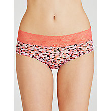 Buy DKNY Signature Lace Bikini Briefs, Candy Heart/Lipgloss Online at johnlewis.com