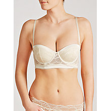 Buy Calvin Klein Black Striking Bridal Longline Bra, Ivory Online at johnlewis.com
