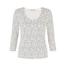 Buy Hobbs Bria Top, Ivory / Black Online at johnlewis.com