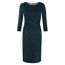 Buy Hobbs Luann Dress, Navy / Teal Online at johnlewis.com