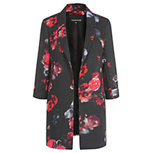 Buy Warehouse Poppy Print Jacket, Black Online at johnlewis.com