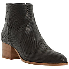 Buy Dune Black Piah Reptile Ankle Boots, Black Online at johnlewis.com
